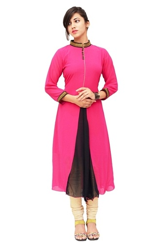 High collar kurti