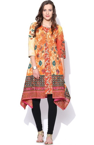 The gown cut kurti