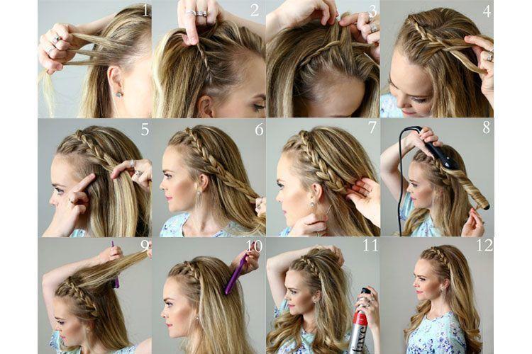 Steps For French Braid Hairstyle Femaleadda
