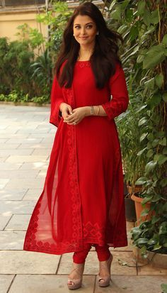 a8542592cf Beautiful Aish in red colour suit.Red colour suits totally as well as  stitched perfect
