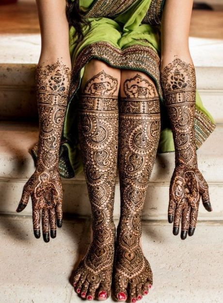 LATEST BRIDAL MEHENDI TRENDS